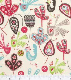 Keepsake Calico Fabric Artistic Birds & Leaves Multi Bowyns new duvet cover ideas! Baby Fabric, Fabric Birds, Cotton Fabric, Sew Baby, Pillow Fabric, Pink Fabric, Lumbar Pillow, Decoupage, Calico Fabric