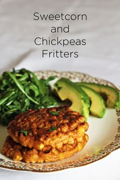 Recipe for Sweetcorn and Chickpeas Fritters - your new favourite brunch dish. I love to serve this with rocket, avocado and a fried egg. Tastes amazing with a dollop of sriracha sauce. Have your mates over for a brunch party with this on the table.