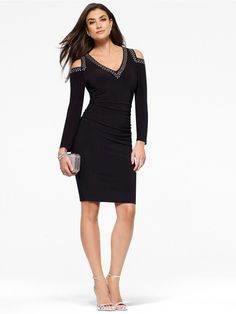 Cache gorgeous and flattering dress new arrival!  Just my style!