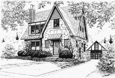 Sketchbook Drawings, Art Drawings Sketches Simple, Pencil Art Drawings, Architecture Concept Drawings, Architecture Sketchbook, Building Illustration, House Illustration, Landscape Sketch, Landscape Drawings