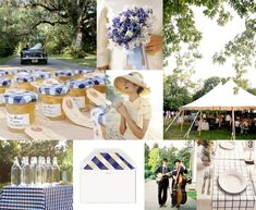 Party Inspiration / Blue Gingham & Honey