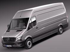 3D Model 2013 2014 Mercedes Van - 3D Model