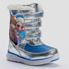 Disney Frozen Elsa & Anna Toddler Girls' Light-Up Winter Boots