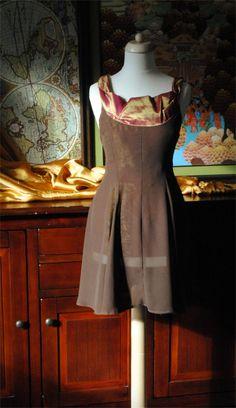 Chiffon taffeta dress