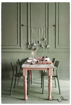 Gray Chalk Paint, Chalk Paint Furniture, Annie Sloan Chalk Paint, Chalk Painting, Annie Sloan Paint Colors, Farrow Ball, Ikea, Pink Table, Scandi Style