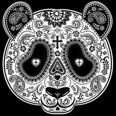 Panda Sugar Skull - Garden Flag