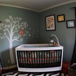 Love the colors of this nursery!  Great for a boy