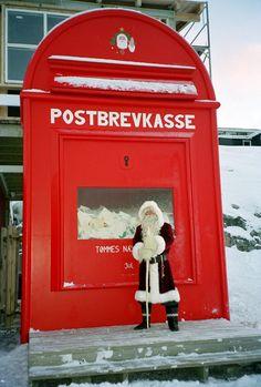 Santa Claus' giant mailbox in Greenland   :-)