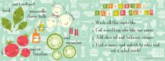 Favorite Salad Snack by Amy King Illustrated recipes from around the world