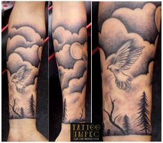 "# Half hand tattoo  # Pigeon  divine world"" live inspirational tattoo<3;)  Get inked from Experienced Tattoo Professional..  Call: Sunil C K @ +91 9035217218 to book your appointment. www.facebook.com/tattooimpec"