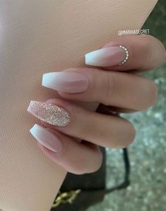 Summer Acrylic Nails, Best Acrylic Nails, Acrylic Nail Designs, Acrylic Nails Coffin Glitter, Silver Glitter Nails, Glam And Glitter, Sparkles Glitter, Coffin Nails, Summer Nails