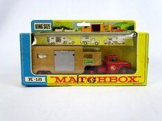 Vtg Matchbox King Size Articulated Horse Van K-18 w/ Original Box Unused Lesney #Matchbox #Dodge