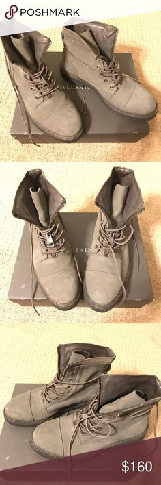 ALLSAINTS  TREMOR BOOTS. Steel Grey ALLSAINTS TREMOR BOOTS Steel Grey. US9/EU42.  Great looking boots In Excellent condition only wore them twice. All Saints Shoes Boots