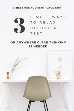 Give us two minutes and we will give you the best simple strategies to clear your mind, calm your nerves and feel prepared for your big exam... or whatever needs your full attention today. #college #stress
