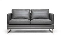 Baxton Studio Dakota Pewter Gray Leather Modern Loveseat Baxton Studio Dakota Pewter Gray Leather Modern Loveseat, wholesale furniture, restaurant furniture, hotel furniture, commercial furniture