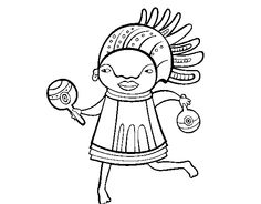 zulu dancer coloring pages - photo#22