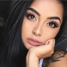 Nude Lipstick and flawless skin Neutral Lipstick, Nude Lipstick, Koko Lashes, Tattoos For Women, Tattooed Women, Flawless Skin, Freckles, Beauty Hacks, Beauty Tips