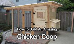 How To Build An Amazing Chicken Coop. Pre-made chicken coops are expensive and I would say minimum you're looking at paying a couple of hundred bucks.