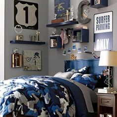 Elegant Camo Boys Room