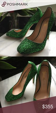 69aef0e92c4e4b Jerome C. Rousseau Aizza - Green glitter 38.5