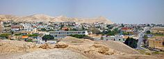 *PANORAMA of JERICO CITY ~  from Monastery of Temptation....The city of Jericho from the ruins of the old walls