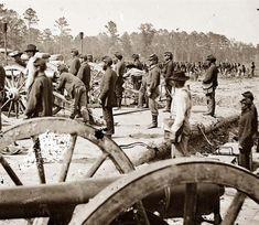 Fair Oaks, Virginia,vicinity. Federal battery. 1862