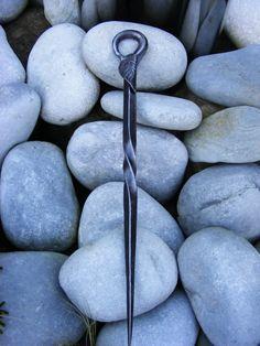 Fire Poker Leaf Poker blacksmith made hand forged by TheMetalRange, £20.00