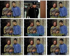 Kirk's worst ass pull in the long history of Kirk ass pulls.  I love Star Trek so much.