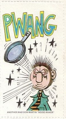 Visions Of Don Martin Sound Effect Stickers As Seen In Mad Magazine Super Special #23  Circa 1977