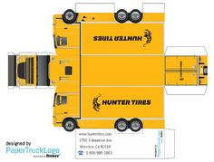 Paper Model Semi Truck | will make a papercraft truck with your logo on it for $5