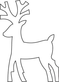 template for fold out deer