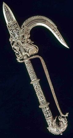 Perhaps a weapon for a celestial--Kala Ksetram, treasures-and-beauty: Indian ankus (elephant. Swords And Daggers, Knives And Swords, Vanitas, Dagger Knife, Medieval Weapons, Arm Armor, Fantasy Weapons, Museum Of Fine Arts, Elephant