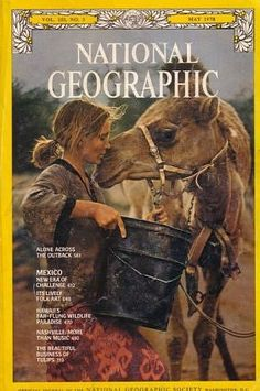 Robyn Davidson travels across the Australian outback with her camel, 1978.