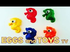 Play Doh Surprise Eggs Lego LPS MLP from Eggs and Toys TV