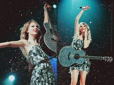 lovin' the bedazzled guitar taylor!