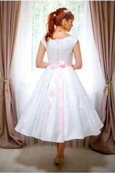 HELEN svatební retro šaty bílé
