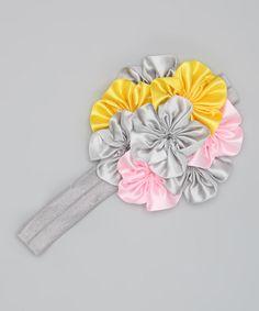 Headband grey/pink