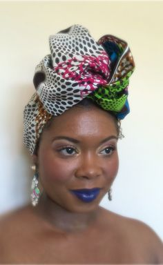 Mix print with a beautiful African Print Head-wrap to add style and personality. Visit www.crownedinroyalty.com for premade head wraps, headwear, and accessories.