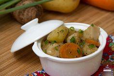 refogado de batata, cenoura e inhame