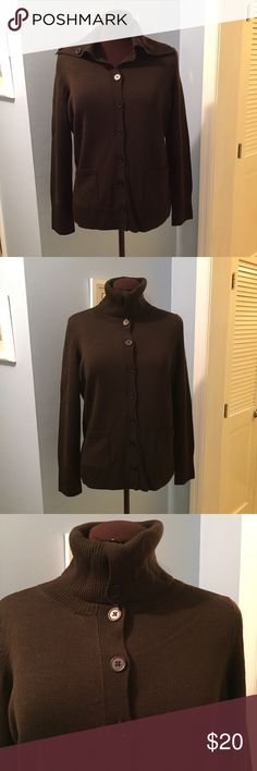 Wool Sweater EUC. MATERIAL: Pure Merino Wool. MEASUREMENTS: Shoulder Width - 14.5 inches, Chest: 40 inches, Length - 24.25 inches. Talbots Sweaters Cowl & Turtlenecks