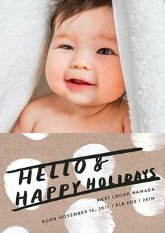 Send an extra special holiday greeting card with a holiday themed birth announcement from Minted.