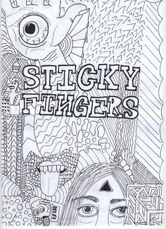 'Sticky Fingers Band Poster ' Poster by thekaleidoscope Poster Wall Art, Poster Wall, Greeting Card Artist, Gig Posters, Poster Art, Art, Album Covers, Music Poster