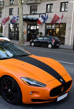 Matte Orange Maserati