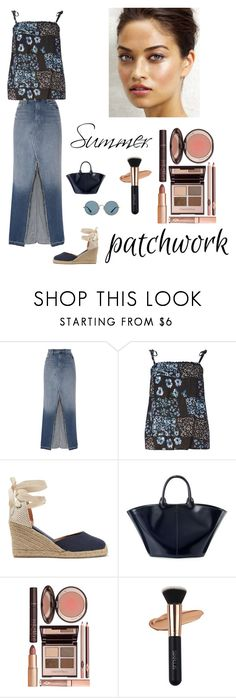 """""""Summer"""" by kotnourka ❤ liked on Polyvore featuring J Brand, Dorothy Perkins, Soludos, The Row, Charlotte Tilbury and Ray-Ban"""