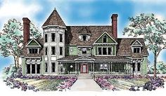 Queen Anne Inspiration - 81207W | Victorian, 2nd Floor Master Suite, Butler Walk-in Pantry, Den-Office-Library-Study, MBR Sitting Area, Media-Game-Home Theater, PDF, Unlimited Build License | Architectural Designs