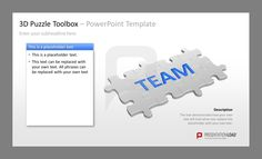 Puzzle PowerPoint Templates Puzzle graphics for the representation of processes and procedures in a PowerPoint presentation   #presentationload   http://www.presentationload.com/powerpoint-charts-diagrams/puzzle-jigsaw/