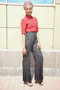 DIMPLEKHADI: BACK TO THE 70'S WORK MODE - PALAZZO PANTS WITH DR...