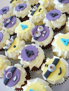 Mini Minion Cupcakes
