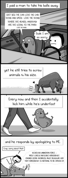 My dog: the paradox - The Oatmeal