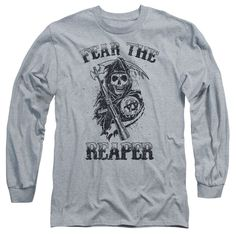 "Checkout our #LicensedGear products FREE SHIPPING + 10% OFF Coupon Code ""Official"" Sons Of Anarchy / Fear The Reaper-long Sleeve Adult 18 / 1-athletic Heather-sm - Sons Of Anarchy / Fear The Reaper-long Sleeve Adult 18 / 1-athletic Heather-sm - Price: $29.99. Buy now at https://officiallylicensedgear.com/sons-of-anarchy-fear-the-reaper-long-sleeve-adult-18-1-athletic-heather-sm"